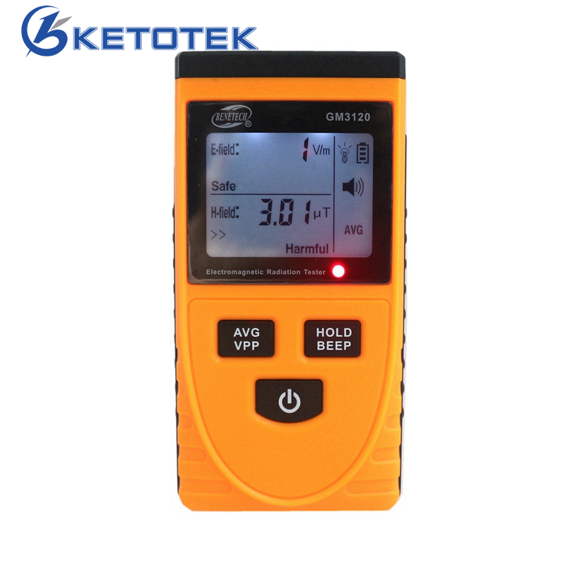 GM3120 LCD Electromagnetic Radiation Detector Tester Radiation Meter Dosimeter Counter Measurement for Computer Mobile Phone gmv2s geiger counter nuclear radiation detector personal dosimeter beta gamma x ray with alarm 2 4 tft lcd radioactive detector