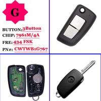 (1 stuks) 2 knoppen 433 MHz PCF7961M Flip Remote Key Voor Nissan Qashqai J11 Pulsar C13 Juke F15 X Trail T32 micra CWTWB1G767|Sensor en detector|   -