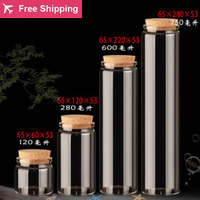 120/280/600/750ml Empty Glass Bottles With Cork Transparent High Borosilicate Glass Bottles Containers Vials Scented Tea Bottles