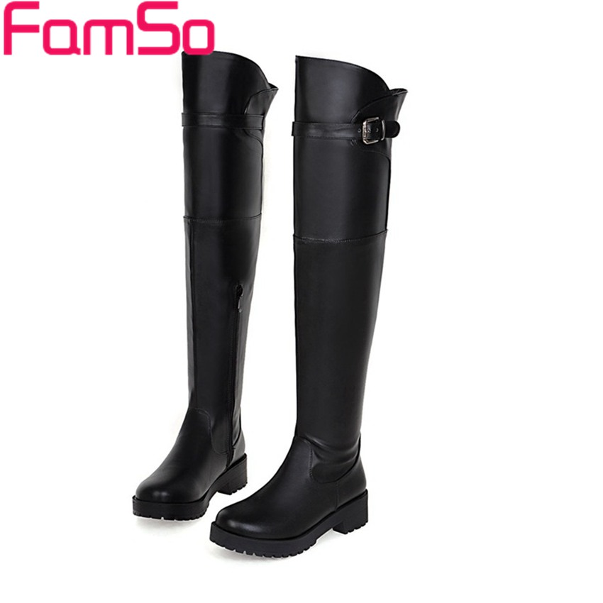 Plus Size34 43 2016 New Sexy font b Women b font Boots Black Autumn Over The