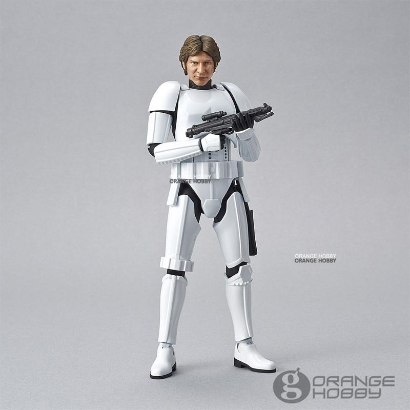 OHS Bandai Star War 1/12 Han Solo StormTrooper Ver. Assembly Figure Model Kits