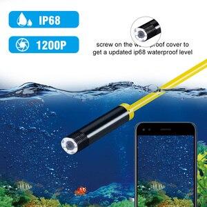 Image 4 - Cámara de inspección inalámbrica de 2,0 MP, 1200P, cámara HD para endoscopia, cámara de serpiente de tubo impermeable con 8 luces LED para IOS, Android y PC