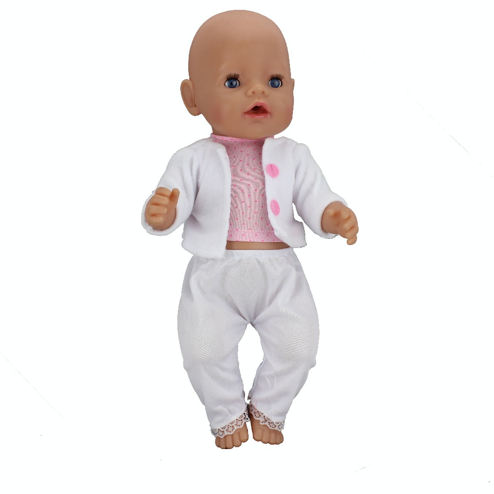 Fashion Coat+Dress Clothes Suit Fit For 43cm Baby Born Doll 17 Inch Dolls Clothes