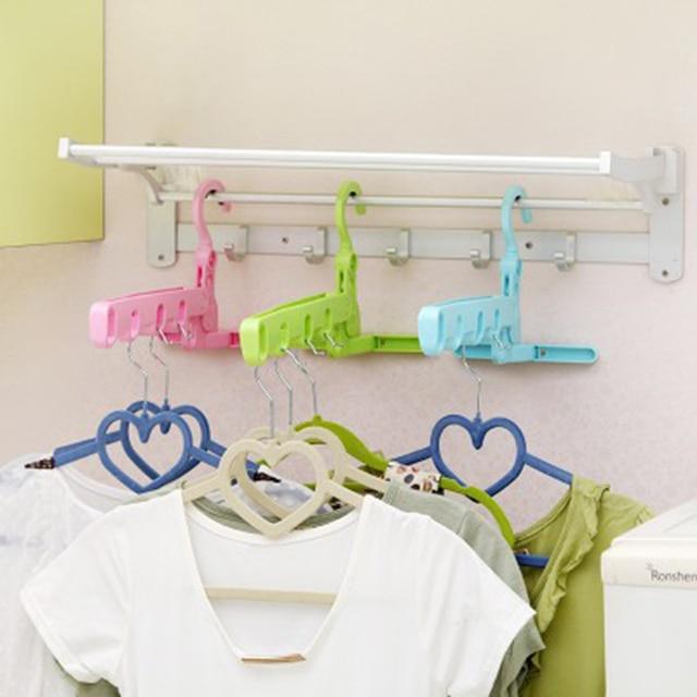 Colorful Multifunctional Folding 5 Holes Drying Rack Abs Bathroom Racks Hook Up Home Accessories C