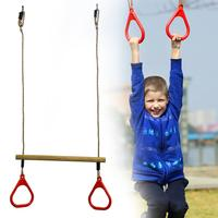 High Quality Kids Fitness Sports Home Outdoor Fitness Equipment Chin up Indoor Traction Adjustable Set Combo Children Trapeze