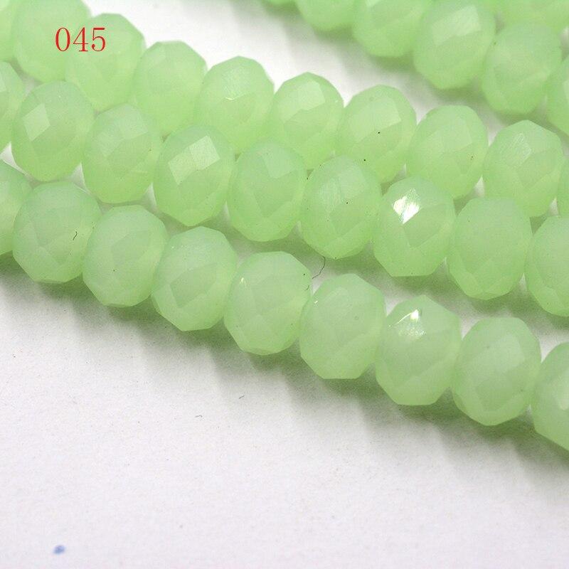 FLTMRH негиалин зеленый цвет мм 4*6 мм 50 шт. Rondelle Австрия граненый кристалл стекло бусины Свободные Spacer Круглые шарики для ювелирных украшений Мак