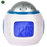 Personality Starry Sky Digital Clock night light Silent Alarm clock Bedroom LED student electronic clock Desk Table Clock