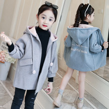 8a9f750ea014e JMFFY Baby Toddler Girl Kids Coat Outwear Jackets Clothes Long Sleeve Girls  Wool 2018 Winter Children Coats Hooded Zipper 4-15T