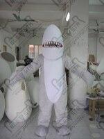 Экспорт высокое качество настраиваемый серый челюсти талисман мультфильм одежда / новый горячий белый живота акула костюм талисмана взрос...