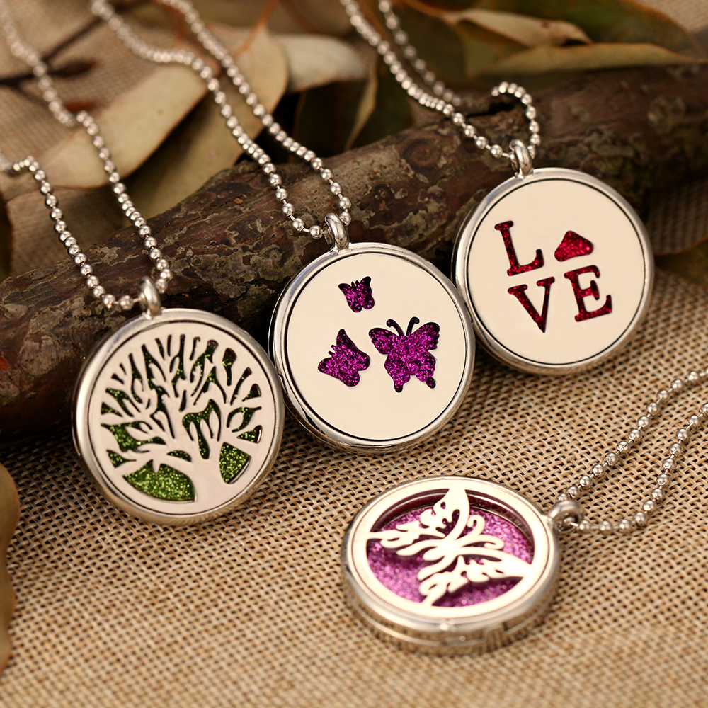 New Aromatherapy Pendant Necklace Open Musical Note Perfume Oil Essential Diffuser Necklaces Lockets & Pendant for Women Jewelry