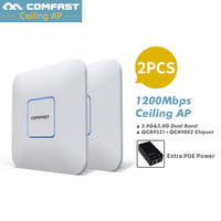 2pcs AC wifi router 2.4G+5.8G dual band Wifi Repeater 1200Mbps Access Point Wi Fi CF E355AC ceiling wireless AP support openWRT