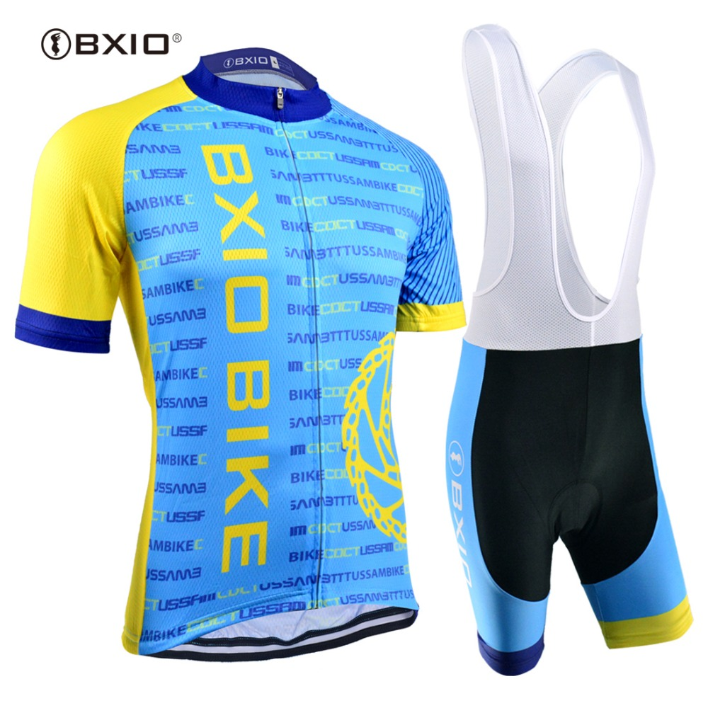 BXIO Man Cycling Jersey Sets Light Cool Bicycle Short Sleeve Sportswear Mountain Blue Bike Clothing Completo Ciclismo Estivo 041