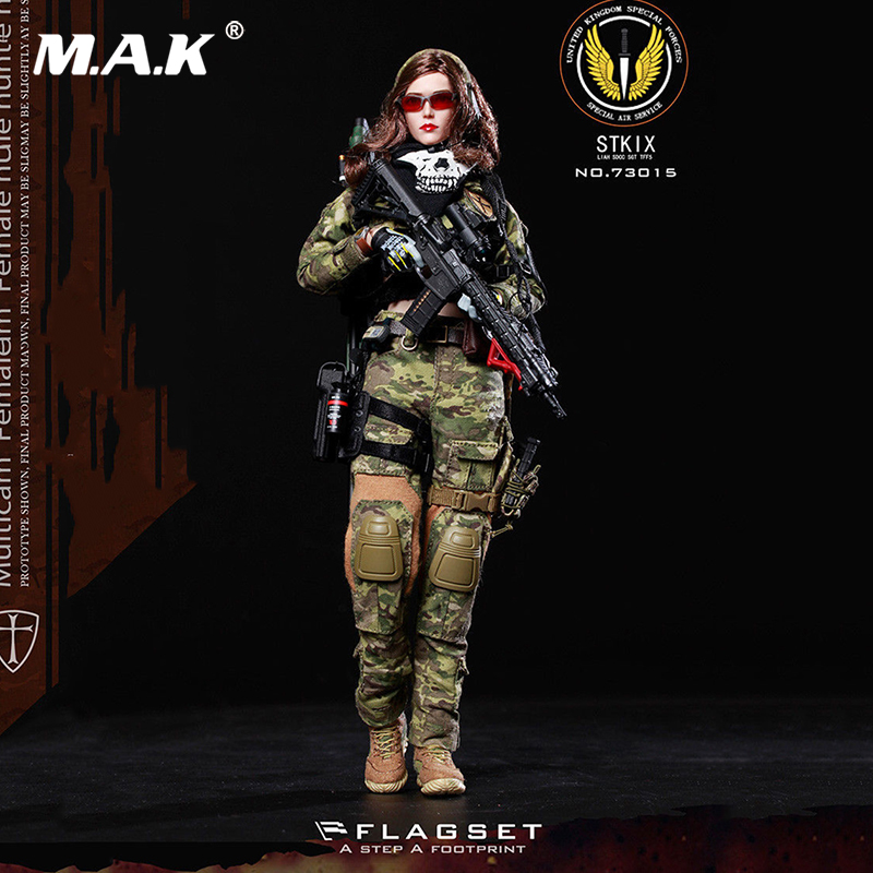 "collection 1/6 Scale FS-73015 MC War angel Camouflage Angela w body head and clothing set 12"" Full Set Action Figure toy gift"