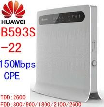 Unlocked Huawei B593s-22 b593 150Mbps 4G lte mifi Router CPE dongle 4g lte Wifi router dongle pk b593u-22 e5172 b593s b683 b681