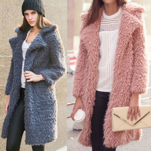 Brand Winter Women Long Sleeve Warm Coats Loose Long Coats Outwears Solid Womens Casual Outwear