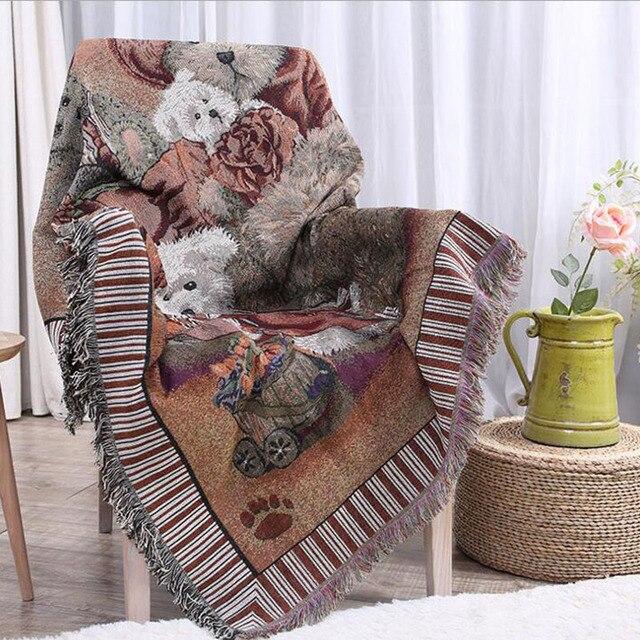 Gestrickte Sofa Handtuch Decke Cartoon Tragen Abdeckung Wohnzimmer Schlafzimmer Teppich Weiche Carpet Tapisserie Bettdecke Tischdecke