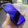 Caso originalidade para iphone 7 cafele aurora cor gradiente de luxo caixa transparente para iphone 7 plus luz capa dura pc casos