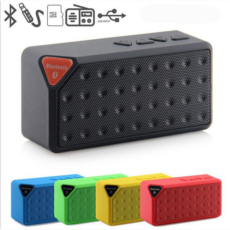 100 pcslot Portable Subwoofer Bluetooth Speaker X3 free Music Sound Box