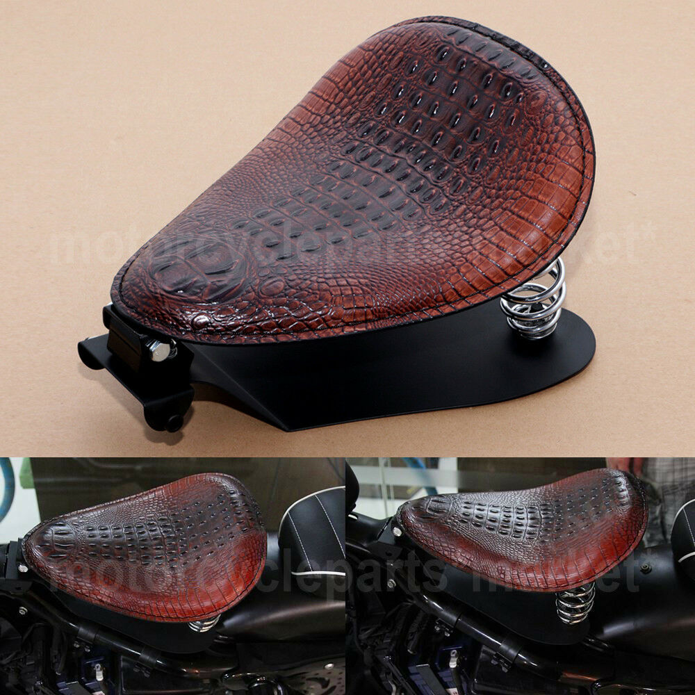 Solo Bracket Driver Seat Heavy Duty Steel For Harley Sportster Glide Leather US