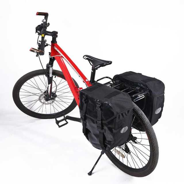 US $47 94 35% OFF|40L MTB Mountain Bicycle Rear Rack Bag Waterproof Bike  Double Side Tail Seat Trunk Pack large capacity outdoor cycling Bags-in