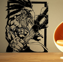 Wall Room Decor Art Vinyl Sticker Mural Decal Maya Warrior Tribal Mayan Decor H69cm x W57cm(China)