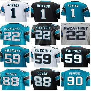 1 Cam Newton 22 Christian McCaffrey 88 Greg Olsen 90 Julius Peppers 59 Luke  Kuechly Football Jersey Size S-XXXL 27d805b2c