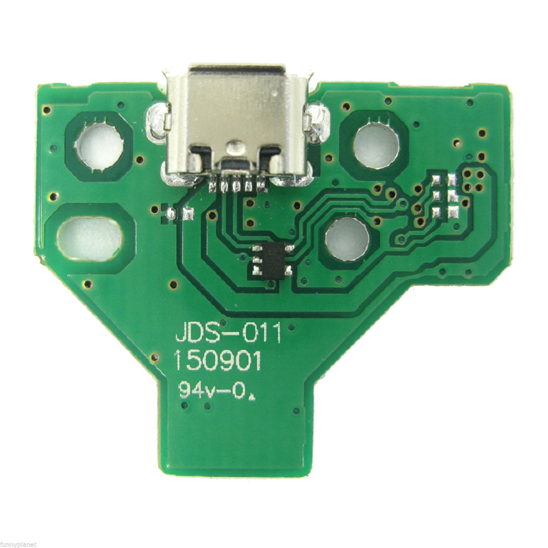 12 Pin Game Controller USB Charger Port Socket Board Green JDS-001 JDS-011 Gamepad Module Part for Sony PS4 Controller