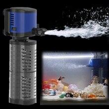 Silent High Flow Internal Aquarium Filter Water Pump 3 In 1 Function Submersible Fish Tank Pump Water Wave Surf Aerator Filter numerical analysis for twin screw pump internal flow