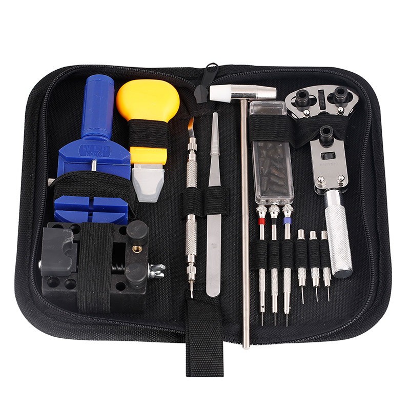 14 /16 pieces Watch repair tool Kit Pin Set Watch Case Opener Bracelet Link Remover Screwdriver Tweezer For Watchmaker watch link removal kit adjuster repair tool set with 5 pins