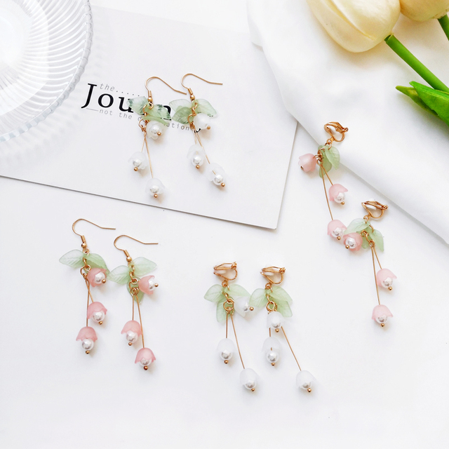Aestheticism literature eardrop small pure and fresh and sweet girl lilies flowers earring students joker fashion.jpg 640x640 - Aestheticism literature eardrop small pure and fresh and sweet girl lilies flowers earring students joker fashion earrings