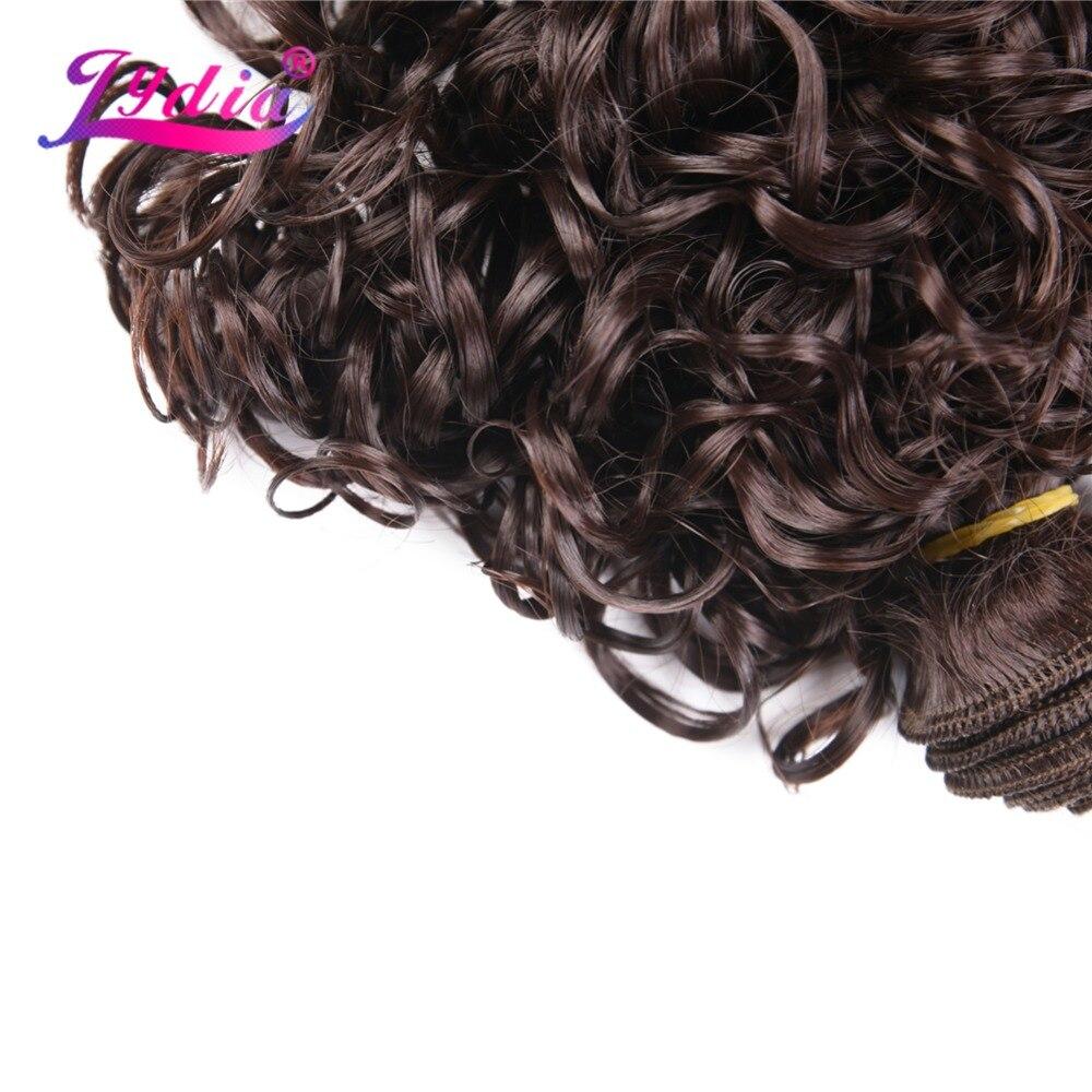Lydia 4st / Lot Syntet Short Curly Hårförlängningar 12 tum Dubbla - Syntetiskt hår - Foto 4