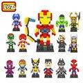 LOZ The Avengers Capitão América Homem de Ferro Hulk Thor Loki Deadpool Diamante Building Blocks Action Figure Crianças Brinquedo DIY