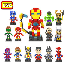 LOZ The Hero Deadpool Captain America Iron Man Thor Loki Diamond Building Blocks Action Figure Children DIY Toy
