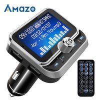 Автомобильный fm-передатчик Bluetooth MP3 музыкальный плеер аудио приемник двойной USB QC 3,0 зарядное устройство U дисковый считыватель 1,8 дюймов дис...