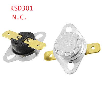 5 x KSD301 Temperature Control Switch Thermostat Fixed Flat Foot 50/55/60/65/70/75/80/82/85/90/95/100/105/110-160 Celsius N.C. ac 250v 20a normal close 60c temperature control switch bimetal thermostat