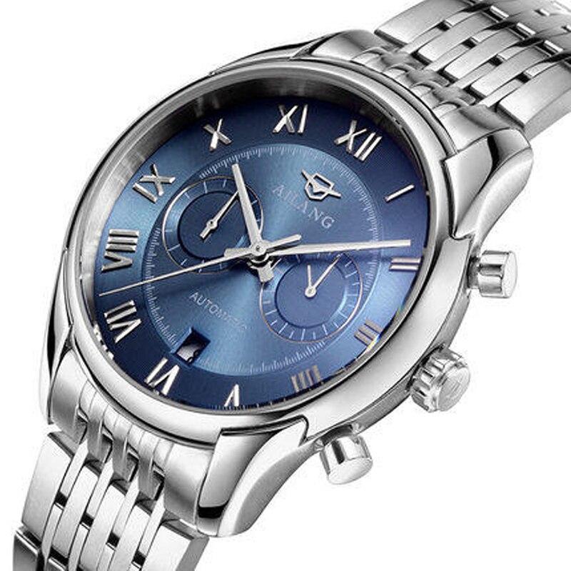 Reloj automático de acero inoxidable resistente a los hombres reloj - Relojes para hombres