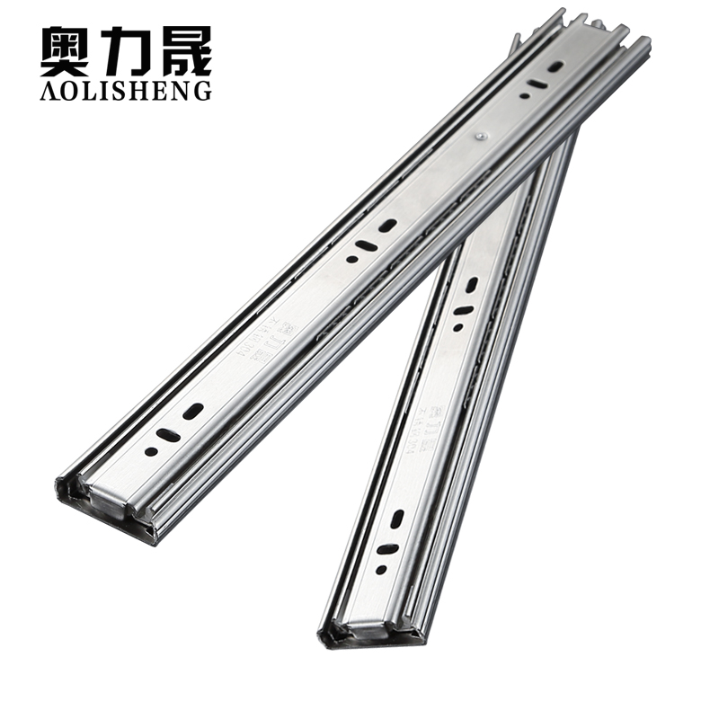 Image 5 - Stainless Steel Drawer slide rail 8 24 Inch Ball Bearing Three Sections Full ExhibitionSlides   -