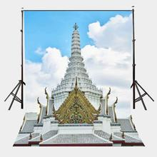 150x220cm Temple of God in Bangkok Thailand Backdrop White Clouds Temples Golden Overhang Photography Background bq bqm 1801 bangkok white