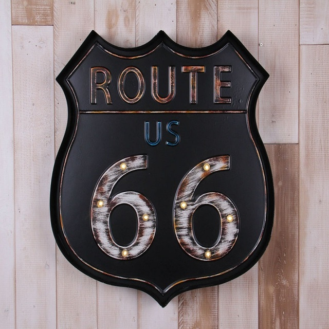 Us Route 66 Vintage Home Decor Bar Decoration Placa Decorativa Cerveza Metal Signs Manualidades Sign
