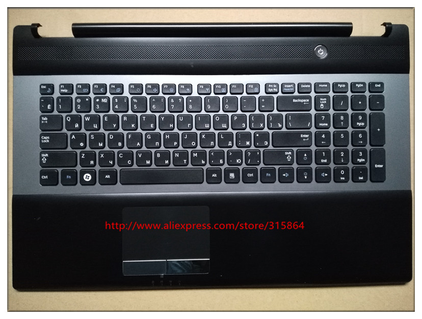 New new laptop keyboard with c case shell palmrest for samsung BA75-03203C RU  RC730 russian layout new and original black ru laptop keyboard with frame for metabox p170sm ru layout