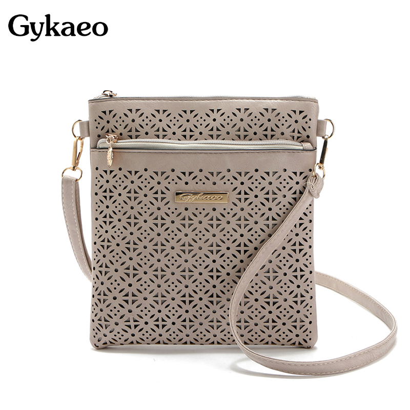 2016 Small Casual women messenger bags PU hollow out crossbody bags ladies shoulder purse and handbags bolsas feminina