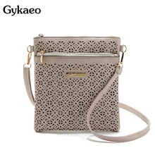 2019 Small Casual women messenger bags PU hollow out crossbody bags ladies shoulder purse and handbags