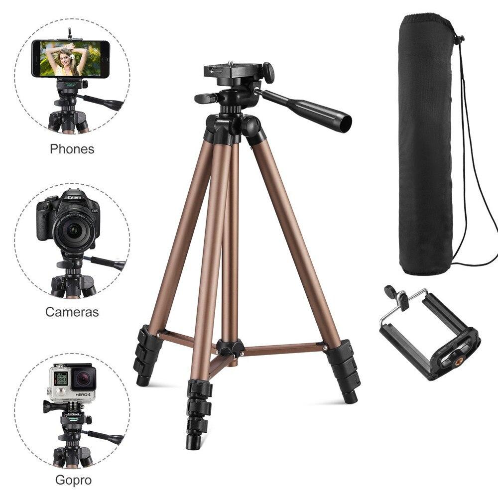 BS3130 Smartphone Tripé profissional Protable liga de Alumínio Câmera SLR tripé para o telefone móvel câmera de vídeo Digital