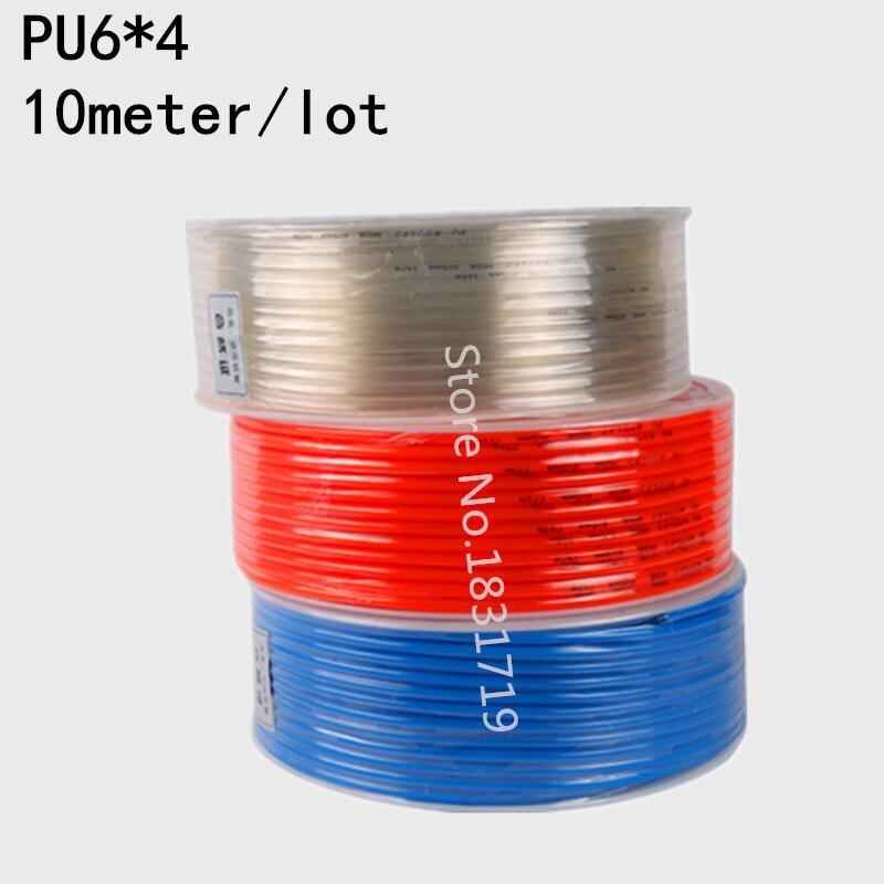 10M/Lot PU6x4 6mm OD 4mm ID Pneumatic PU Tube Hose PU6*410M/Lot PU6x4 6mm OD 4mm ID Pneumatic PU Tube Hose PU6*4