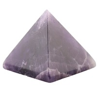 Black Obsidian Engraved 1 5 Inch Pyramid Stone Carved Healing Reiki Free Pouch AC016