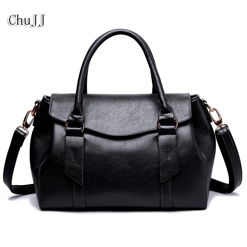 Chu JJ High Quality Women's Genuine Leather Handbags All-match Shoulder CrossBody Bags Messenger Bag Big Size Women Bags аэрозольный распылитель модель chu chu train