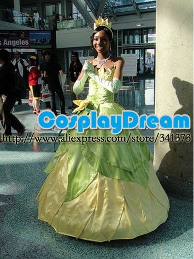 The Princess And the Frog Tiana Cosplay Costume Halloween Costumes for Women Adult Princess Tiana Costume Fancy Tiana Dress-in Movie u0026 TV costumes from ...  sc 1 st  AliExpress.com & The Princess And the Frog Tiana Cosplay Costume Halloween Costumes ...