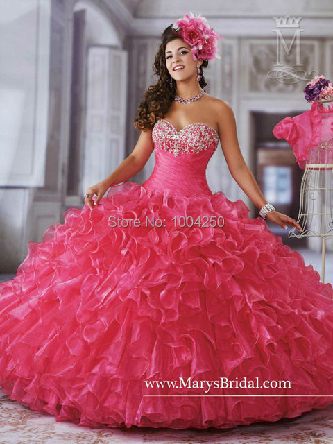 4c01ea6ad18 IR0009 2018 Rose Red Quinceanera Dresses Ball Gowns with Jacket Sexy New  Arrival Ball Gown Sweets For 15 16 Vestidos de 15 anos