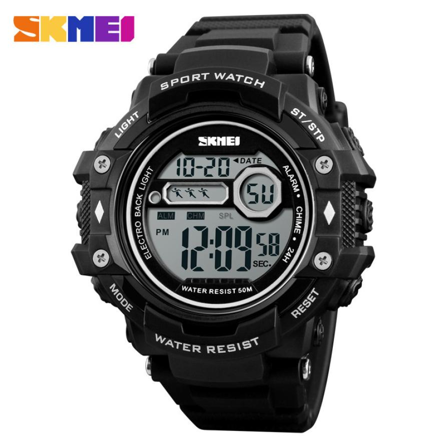 SKMEI Casual  Men Watches 50m Waterproof Outdoor Sport Watch EL Light Digital Watch Fashion Date Wristwatches Relogio Masculino(China)