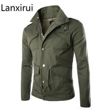 Alta qualidade algodão militar jaqueta de comércio britânico temperamento magro tamanho grande à moda jaquetas dos homens do exército